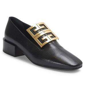 Givenchy 4G logo black loafer, size 38.5 (8.5)